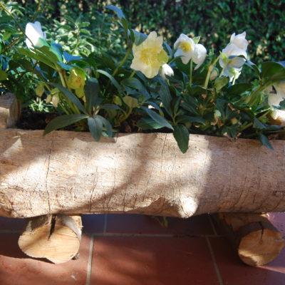 Fioriera in legno rustica