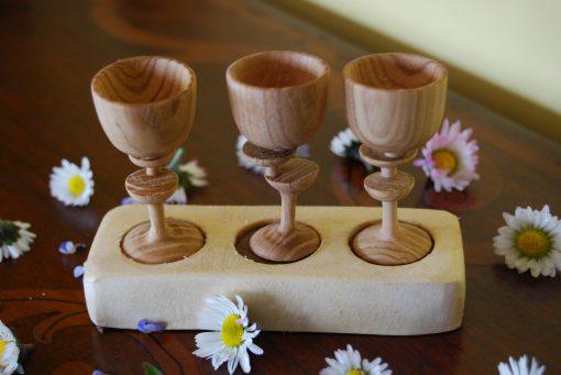 Bicchierini in legno tornito
