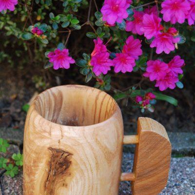 Boccale in legno di frassino