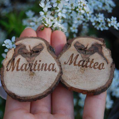 Portatovaglioli in legno di piracanta artigianali