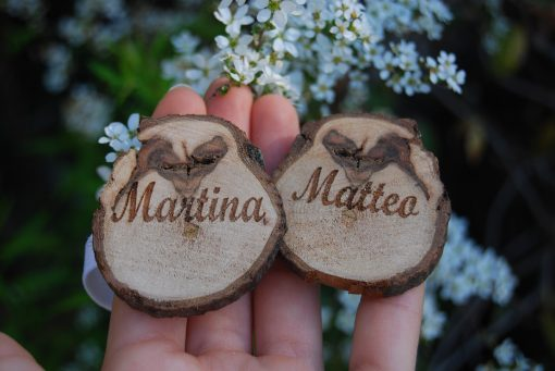 Portatovaglioli in legno artigianali