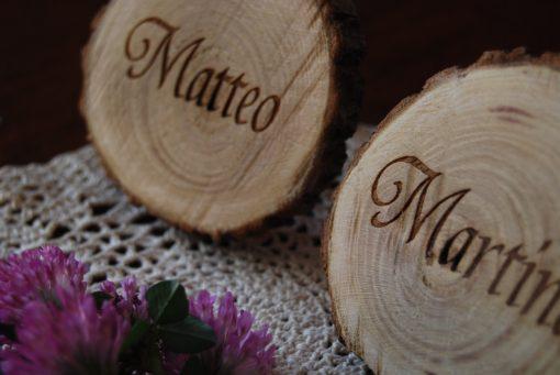 segnaposto legno