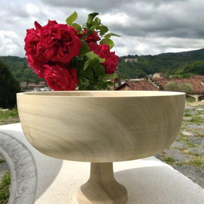 Centrotavola in legno di Tulipiè